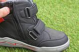 Подростковые демисезонные сапоги ботинки на липучке синие р33 - 38, фото 7