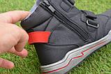 Подростковые демисезонные сапоги ботинки на липучке синие р33 - 38, фото 9