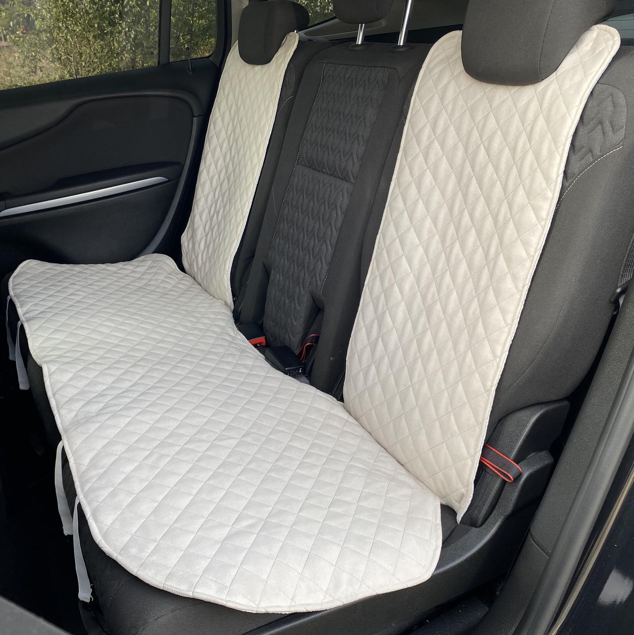 Накидки чехлы на сидения автомобиля из Алькантары Эко-замша задние универсальные защитные авточехлы Айвори
