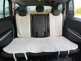 Накидки чехлы на сидения автомобиля из Алькантары Эко-замша задние универсальные защитные авточехлы Айвори, фото 2