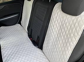 Накидки чехлы на сидения автомобиля из Алькантары Эко-замша задние универсальные защитные авточехлы Айвори, фото 3