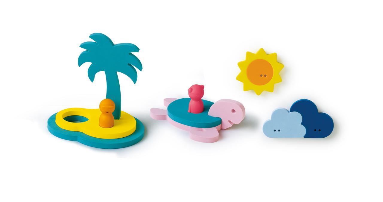 """QUUT - Игрушка для ванной пазл-головоломка """"Остров и черепаха"""""""