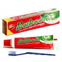 Зубная паста Babool (Dabur) + зубная щетка, 100 г