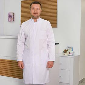 Мужской медицинский халат Виталийна габардине и рубашечной ткани
