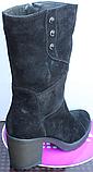 Сапоги женские замшевые на байке от производителя Ф127, фото 4