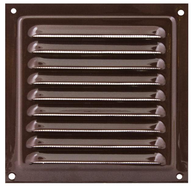 Решетка вентиляционная МВМ 250 коричневая, металлическая