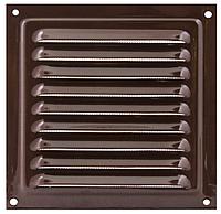 Решетка вентиляционная МВМ 250 коричневая, металлическая, фото 1