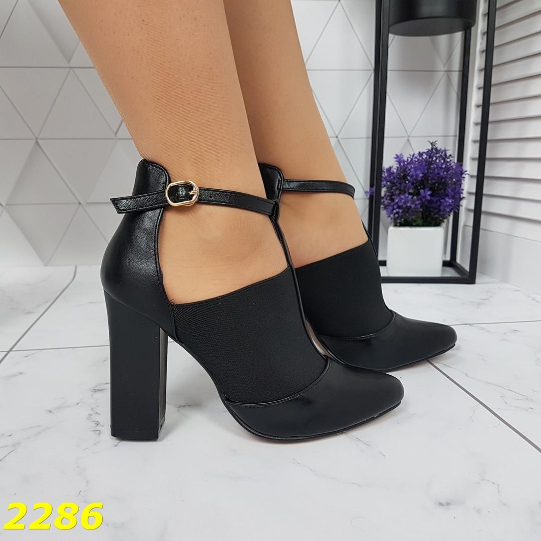 Женские закрытые туфли на резинке, р,36,37