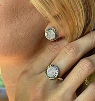Кольцо и серьги набор из серебра 925 пробы *пандора*