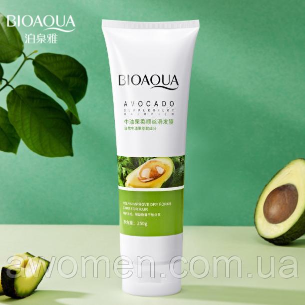 Шелковая маска для волос Bioaqua Avocado Hair Mask с авокадо и маслом ши 250 ml