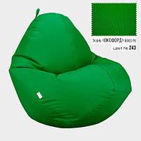 """Крісло мішок груша безкаркасний пуф зелений Овал Оксфорд 600D PU XXXL 100x140 """"Radi Vsi"""""""