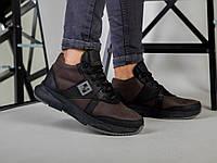 Ботинки кроссовки коричневые зимние 40