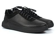Кроссовки кеды черные кожаные рептилия женская обувь больших размеров Rosso Avangard Mozza Riptile Leather BS, фото 1