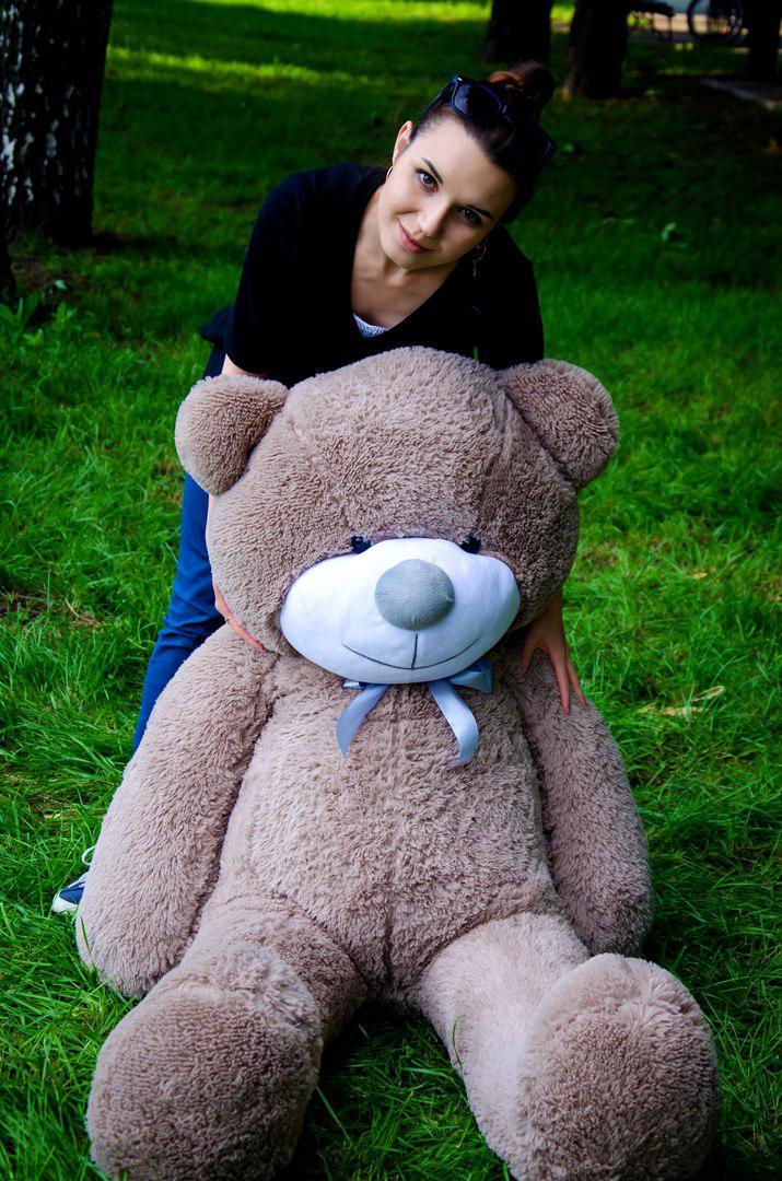 Плюшевий ведмедик Рафаель 160 см Капучіно. Плюшевий ведмідь Рафаель 160 див. Плюшева іграшка