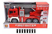 Пожежна машина інерційна, музична зі світлом в коробці, WY851A (шт.)