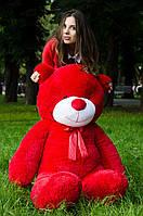 Плюшевый мишка Рафаэль 160 см Красного цвета