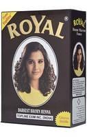 Индийская хна темно-коричневая натуральная краска Royal