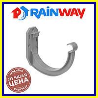 Rainway Серый 130 кронштейн желоба ПВХ, Держатель желоба рейнвей 130