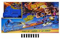 Трек-запуск HOT WHEEL Gorilla (+1 машинка) в коробці 3077 (шт.)