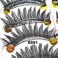Черные накладные ресницы по 10 пар (3 вида)