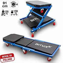 Лежак - (стул)  подкатной автослесаря для ремонта автомобиля на СТО, автосервиса, мастерской