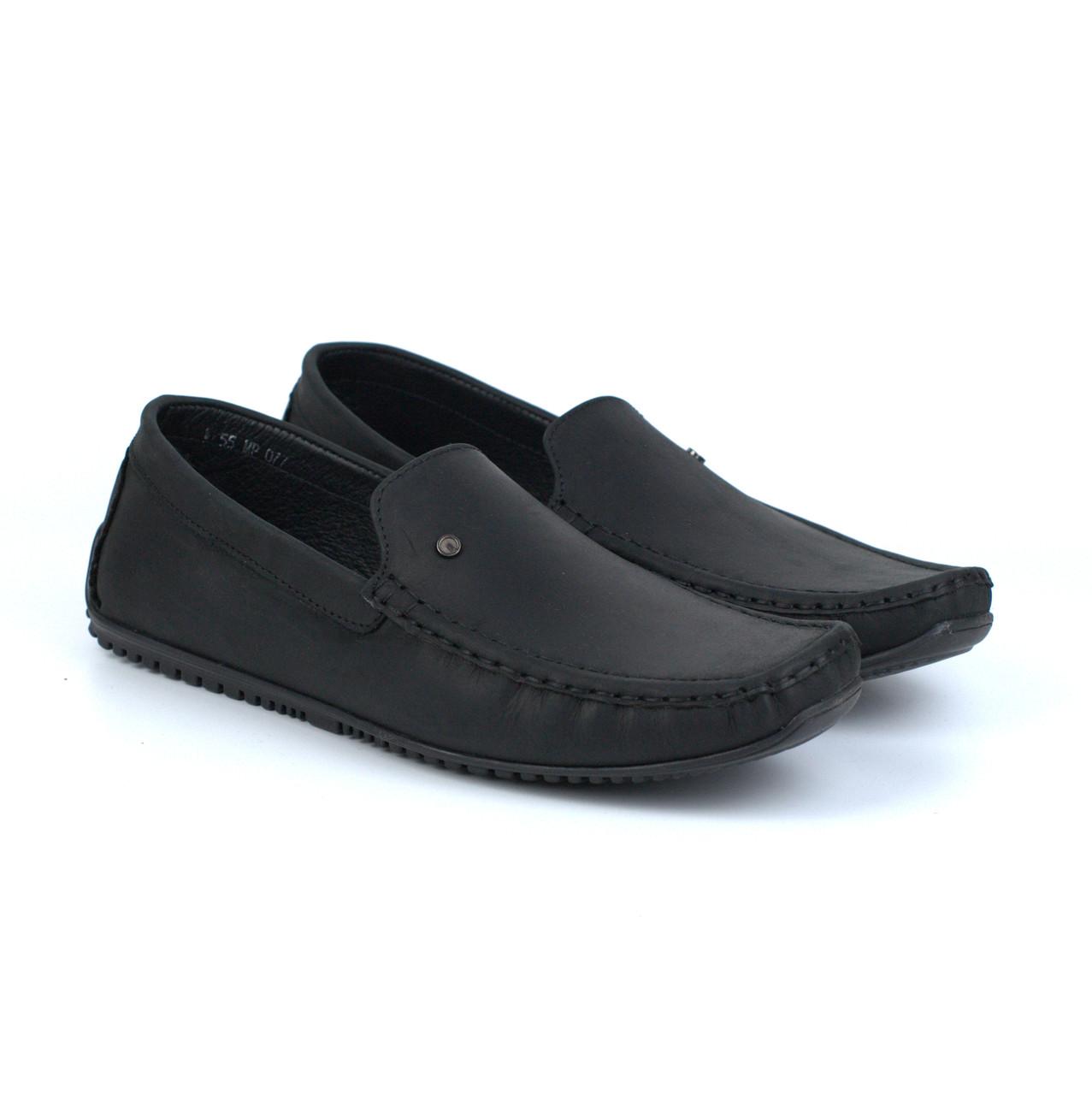Мокасины мужские кожаные черные стильные весенняя обувь демисезонная Rosso Avangard Crazy M5 Alberto