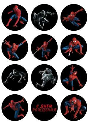 "Вафельна картинка  ""Людина павук"""