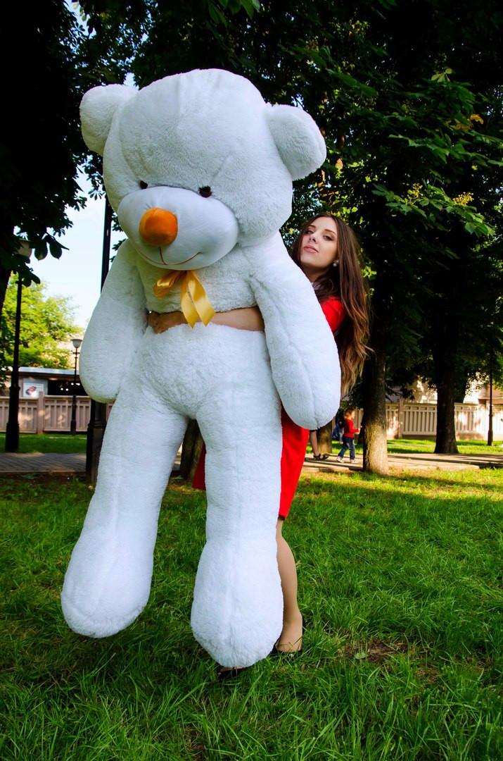 Плюшевий ведмедик Рафаель 200 см Білого кольору