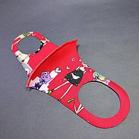 Детская маска питта  многоразовая защитная  (3-7 лет) красная