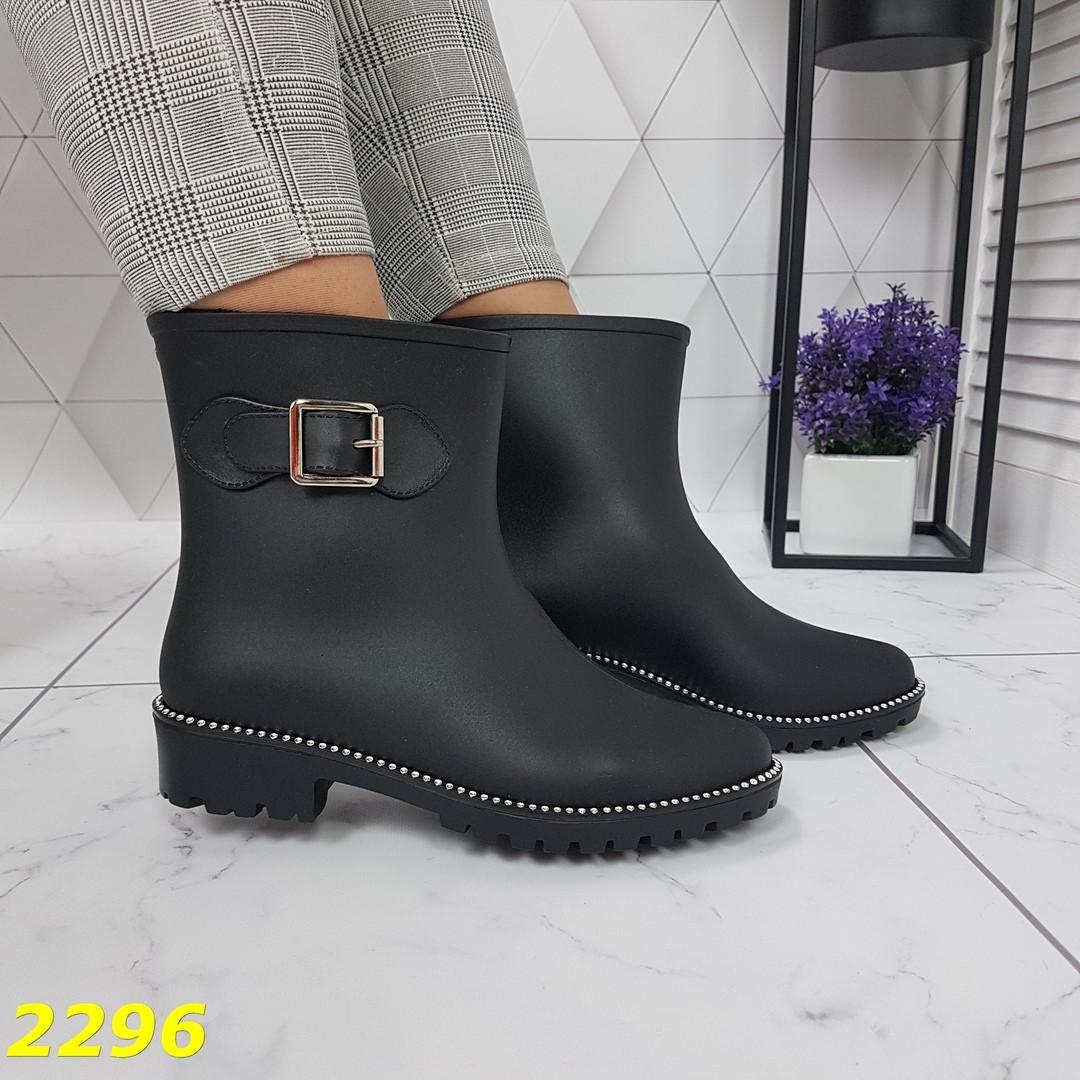 Женские утепленные резиновые ботинки непромокаемые, р.36
