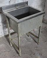 Моечная ванна 1-секционная из нержавеющей стали, 60х50х85 см., Б/у, фото 1