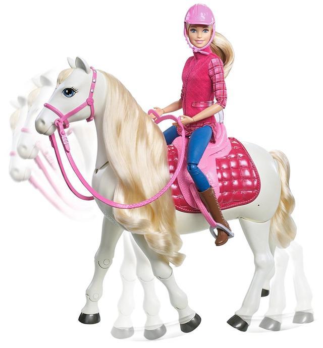 Barbie Лялька Вершниця - Dream Horse (Барби — кукла : наездница и интерактивная танцующая лошадь FRV36)
