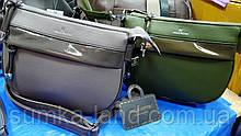 Женские молодежные клатчи, маленькие сумочки из искусственной кожи 25*18 см (зеленый и серый)