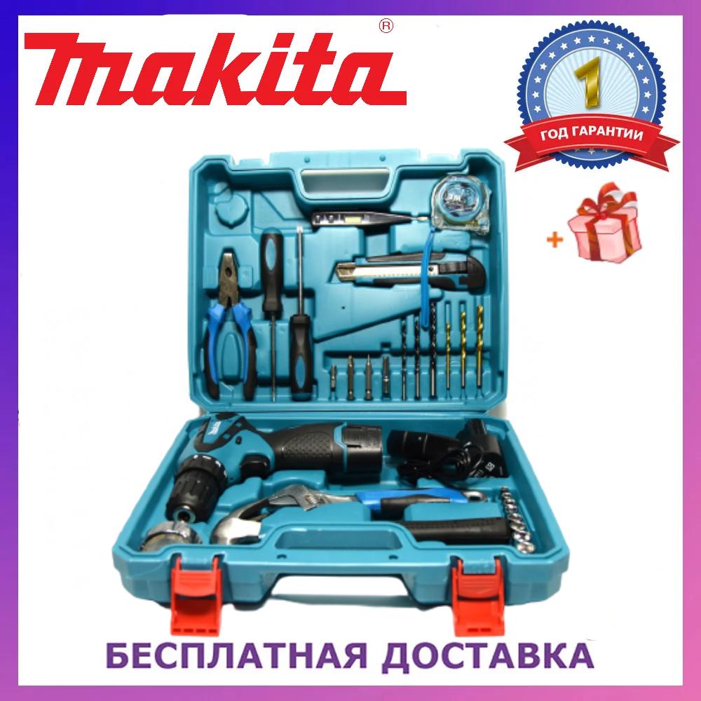 Шуруповерт Makita DF330DWE (12V-2Ah) с набором инструментов! Аккумуляторный шуруповерт Макита