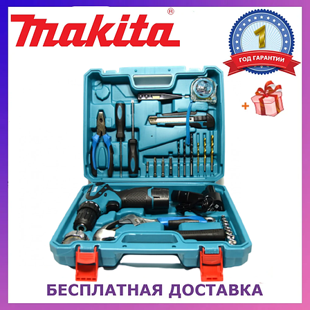 Шуруповерт Makita DF330DWE (12V-2Ah) с набором инструментов! Аккумуляторный шуруповерт Макита, фото 2