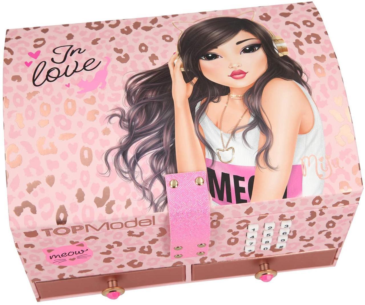 Top Model Скринька для прикрас на кодовому замку In Love ( Шкатулка музыкальная для украшений Топ Модель )