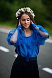 Лляна синя вишиванка в стилі Бохо - дуже сучасна і ніжна, фото 2