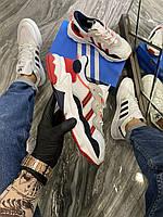 Adidas Ozweego White Red (Белый) Мужские Кроссовки Адидас Озвего, фото 1