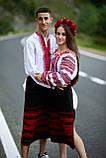 Червоно-чорнобрива вишиванка в українському стилі, фото 3