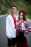 Червоно-чорнобрива вишиванка в українському стилі, фото 2