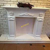 Камінний портал, гіпсовий декоративний камін, модель 4в