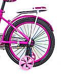 """Велосипед 18 """"Scale Sports"""" Розовый T18, Ручной и Дисковый Тормоз оптом, фото 4"""