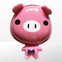 Рюкзак дитячий маленький в садок для дівчинки Zoo 3D Хрюшка рожевий (4065)