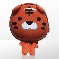 Рюкзак дитячий лаковий маленький ля садка дошкільний для хлопчика Zoo 3D Тигр помаранчевий (4062)
