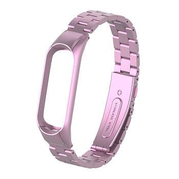 Pемешок для фитнес-браслета Mi Band 3 и 4 Bead design, Pink