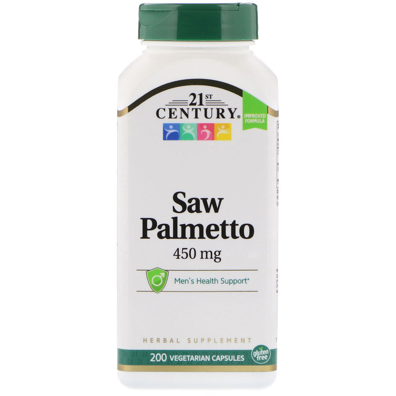 Saw Palmetto 450 мг 21st Century 200 капсул