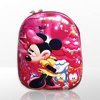 Рюкзак 3D Disney Minnie лаковий каркасний для дівчинки дошкільний рожевий (4078)