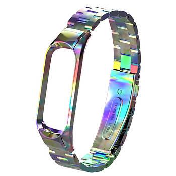 Pемешок для фитнес-браслета Mi Band 3 и 4 Bead design, Colorful