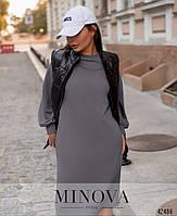 Стильное удобное платье с врезными карманами с 42 по 46 размер, фото 2