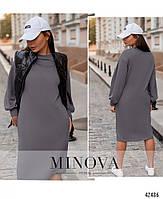Стильное удобное платье с врезными карманами с 42 по 46 размер, фото 3